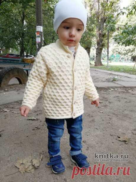 Красивая детская кофточка спицами. Работа Ирины Стильник, Вязание для детей