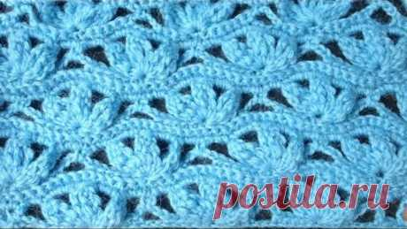 Рельефный узор Crochet pattern Вязание крючком 68
