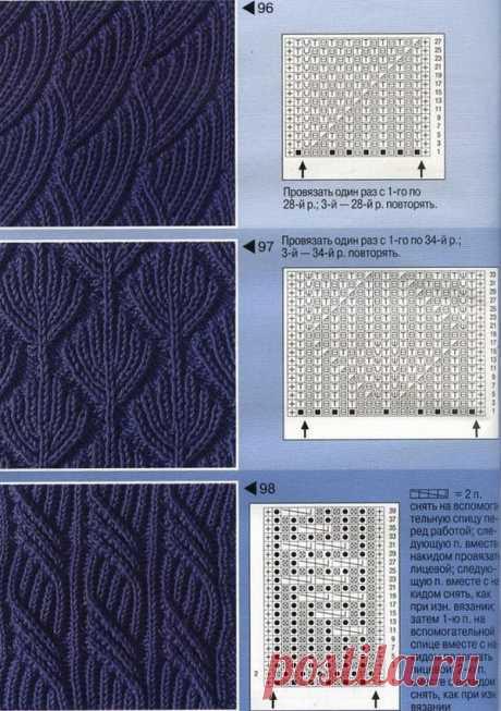 Схемы мужских шарфов