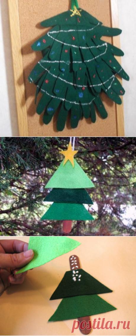 Три простые новогодние поделки-ёлки. Поделки-ёлки к новому году для детей. | Детские игрушки и развивающие игры