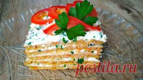 Чрезвычайно вкусный закусочный мясной тортик