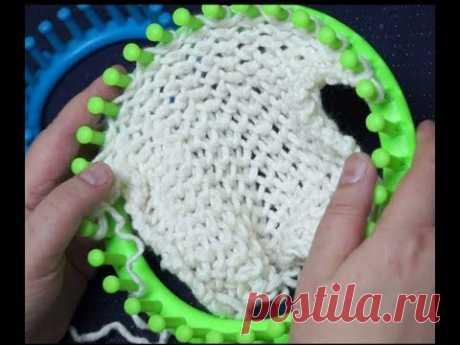 Вязание на луме. (loom knitting). Узор Соты.