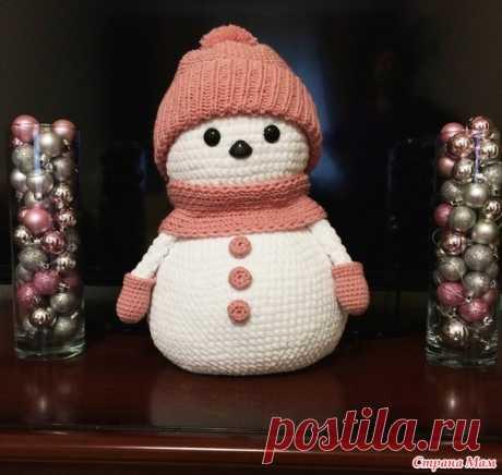 Снеговик вязаный крючком. Игрушка на новый год своими руками - Вязание - Страна Мам