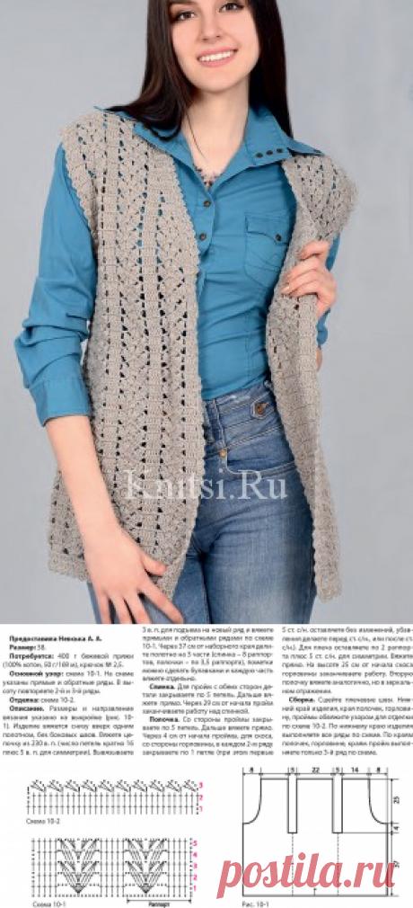 Вязаная безрукавка. Вязание для женщин / Жилеты / Крючком