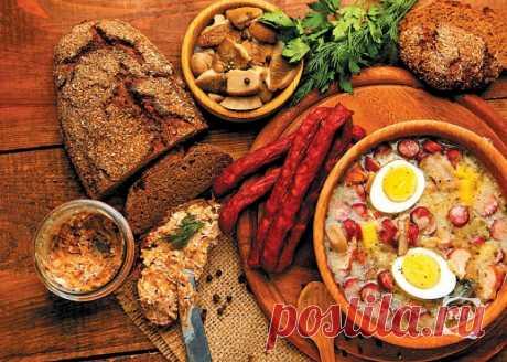 К столу, панове! 8 рецептов польской кухни Рассказывать о польской кухне — значит то и дело отпускать комплименты. Сытная? Безусловно. Вкусная? Пальчики оближете. Остроумная? О да! Только в ней пару стопок горячительного с кусочком студня назы…
