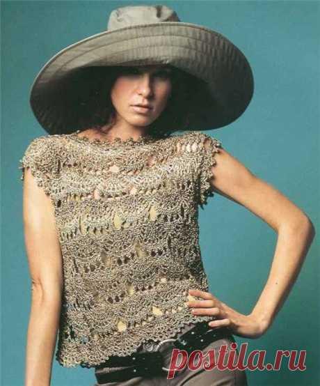 Blusa elegante y fácil de hacer… | Mi Rincon de Crochet