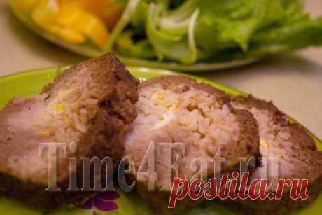 Мясной рулет с рисом и яйцом | Пора перекусить!