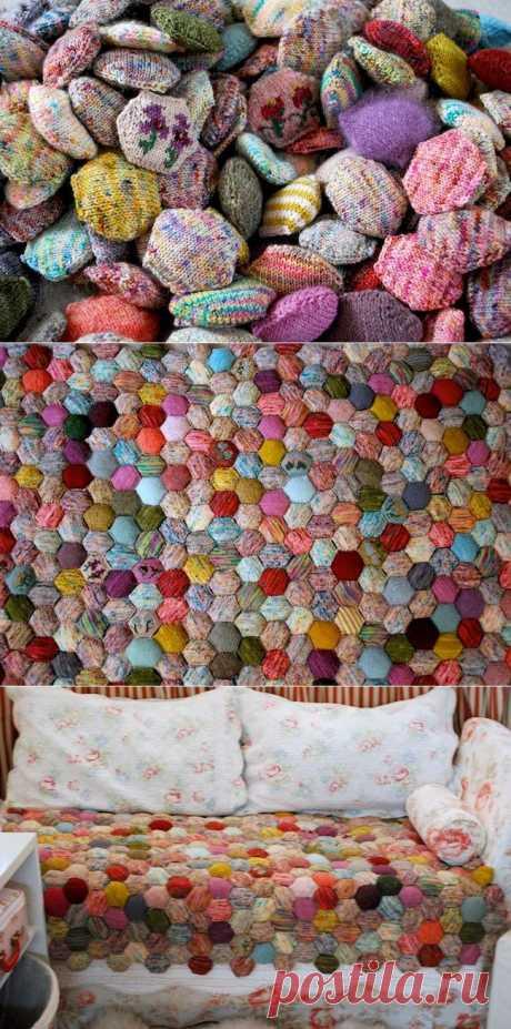 Ну очень тёплое одеяло! / Вязание / Модный сайт о стильной переделке одежды и интерьера