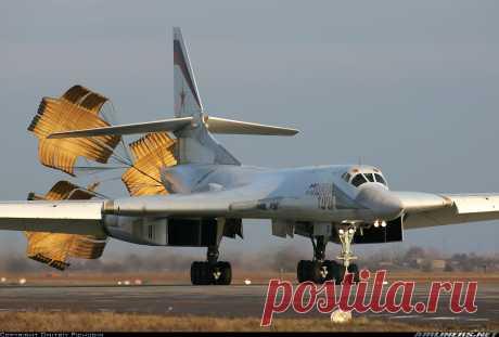 Ту-160 на посадке
