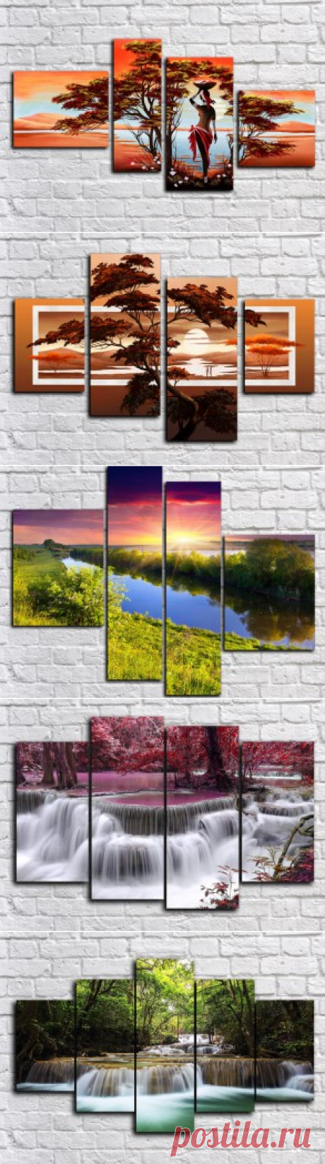 Купить модульные картины природа + подарок всем!