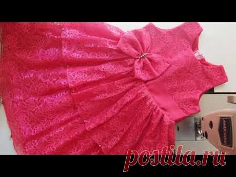 Party Wear Baby Frock Cutting And Stitching  For 1 To 2 Years Old