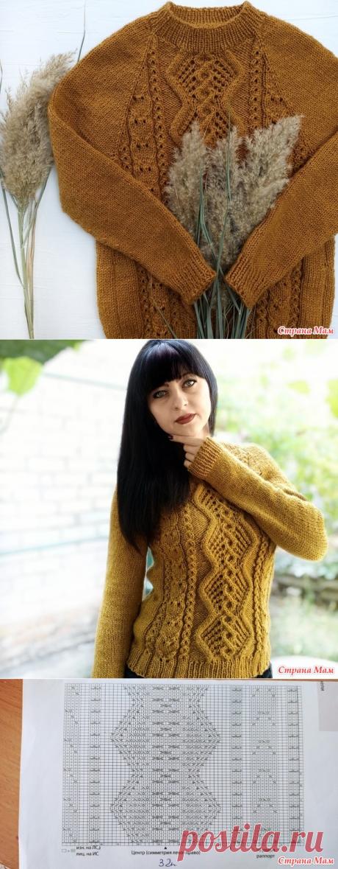 """Как связать свитер спицами """"Горчица"""" - Вязание - Страна Мам"""