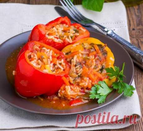Перец с овощным фаршем