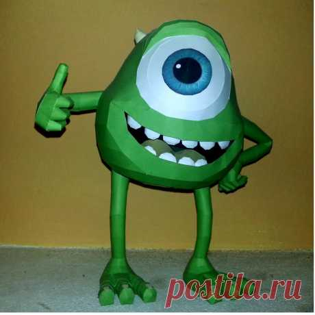 Mike wazoski papercraft Mike Wazowski papercraft. 3D model designed by me with Blender, model built by me. To build the model you can download the template from this www.mediafire.com/?m0pfw38vxh8…