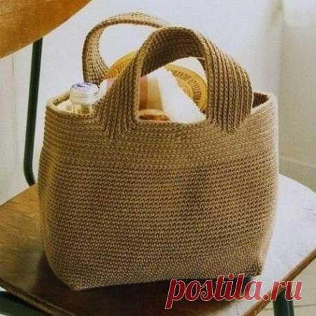 Плотная сумка крючком