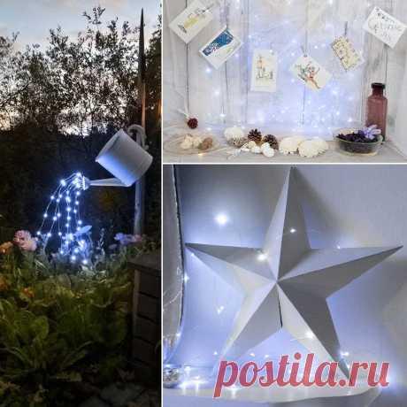 1 м 2 м 3 м гирлянда декоративный светильник медная проволока CR2032 на батарейках Рождественская Свадебная вечеринка украшение светодиодная гирлянда Сказочный светильник s|Светодиодная лента| | АлиЭкспресс