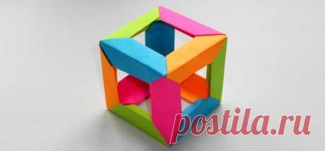 Оригами кубик из бумаги: схемы как сделать своими руками, описание работы