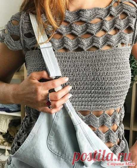 . A pattern for a summer top a hook - Knitting - the Country of Mothers