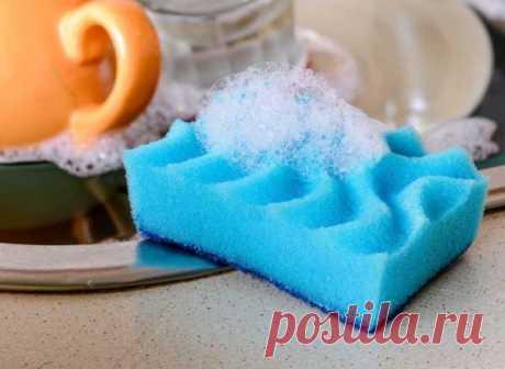 Всегда держать кухонные губки в чистоте поможет обычная микроволновка »