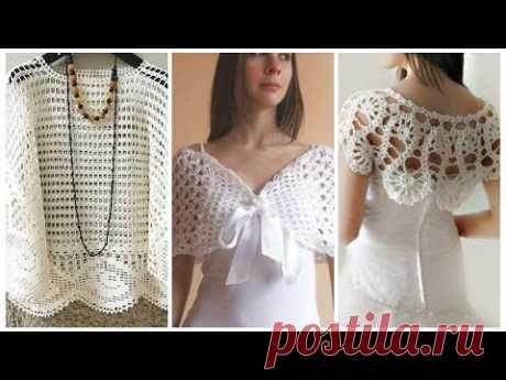 Very Stylish crochet bridal poncho / Crochet cape design for girls  2019 style