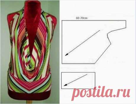 Blouse pattern with an open back \/ Simple patterns \/ Second Street
