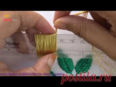 Hand Embroidery amazing Trick #7| Sewing Hack with ruler|super easy embroidery trick