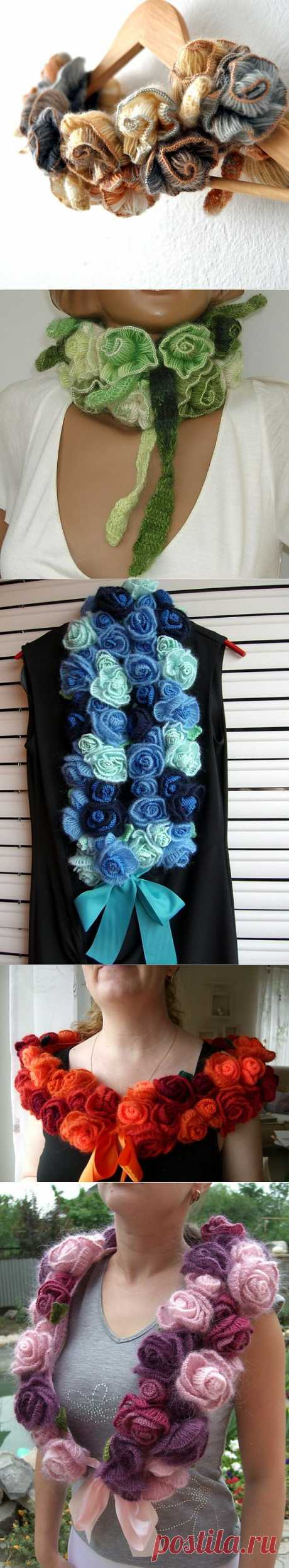 Scarf from roses.