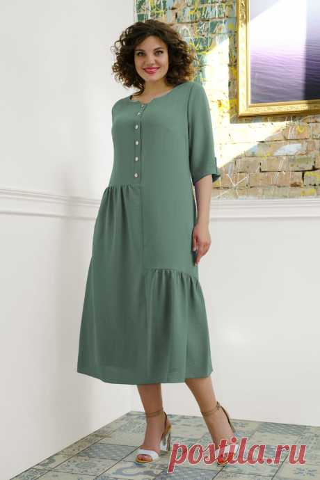 Платье Avanti Erika 932-10 зеленый купить с доставкой по России | Интернет-магазин BelaRosso-shop.ru
