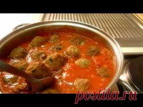 Фрикадельки в Томатном Соусе Polpette nel Sugo - Итальянский рецепт - YouTube