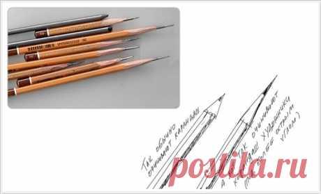 Правильно точим карандаш. Подборка уроков + юмор.