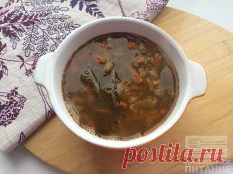 Постный суп из сушеных грибов - Диетический рецепт ПП с фото и видео - Калорийность БЖУ Постный ароматный суп на основе сушеных лесных грибов. В суп добавлены тушеные на оливковом масле овощи и зеленая чечевица.