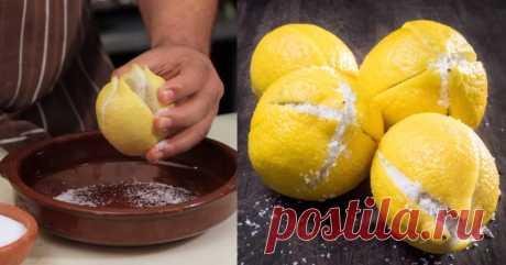 Зачем засыпать солью разрезанные накрест лимоны – Марокканская кухня!