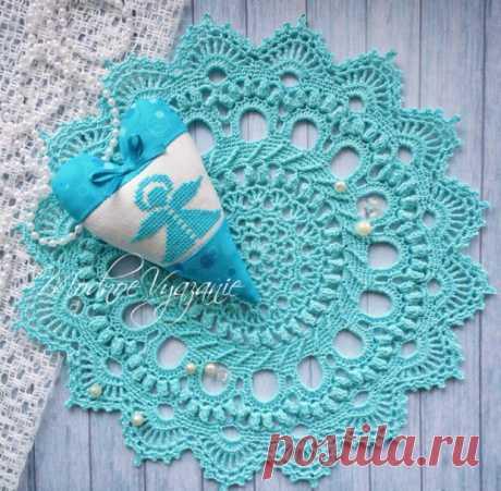 Описание вязания салфетки *Splendin* - Модное вязание