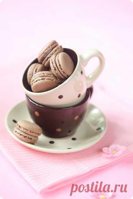 Verdade de sabor: Шоколадные макаронс / Macarons de chocolate