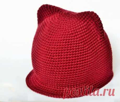 Красивая детская шапочка с ушками из категории Интересные идеи – Вязаные идеи, идеи для вязания