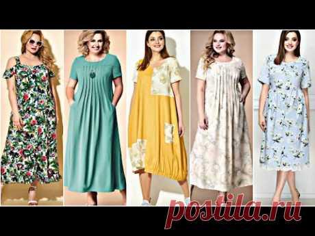 """МНОГО """"БОХО"""" ! Летние платья для ПОЛНЫХ женщин из хлопка, вискозы и трикотажа. Новинки лето 2021."""