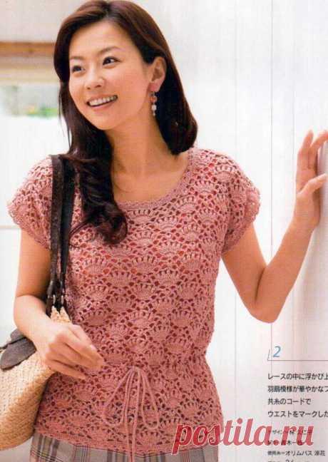La blusa chiné. La cinta del Abanico