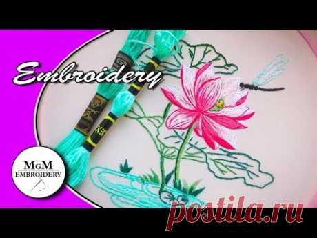 Embroidery: Stem Stitch | Bordado a mano:  puntada de Tallo