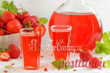 Home-made strawberry liqueur Clear that it is necessary to drink alcohol moderately and not often, but because similar drinks also bring minutes of pleasure.