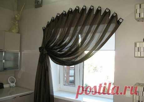 Креативные способы повесить штору