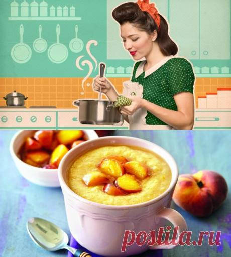 Овсяная каша с изюмом и персиками. Пошаговый рецепт с фото на Gastronom.ru