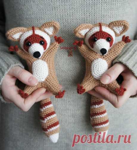 Енот амигуруми: схема вязаной игрушки
