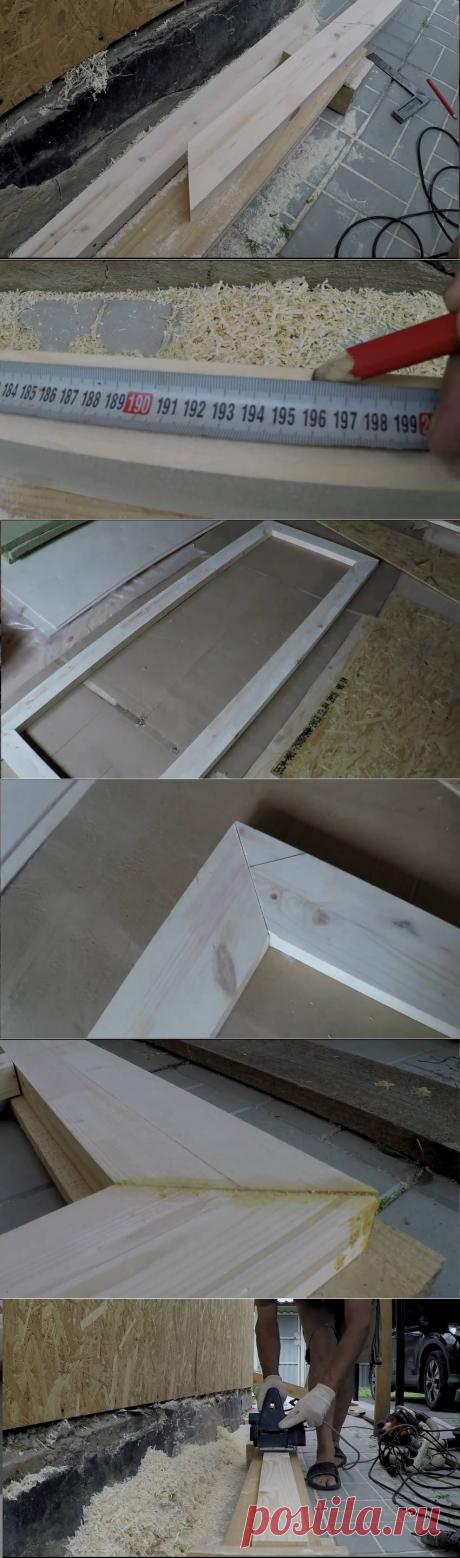 Как сделать утеплённую деревянную входную дверь своими руками.