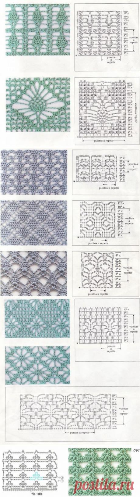 Подборка узоров крючком / Вязание