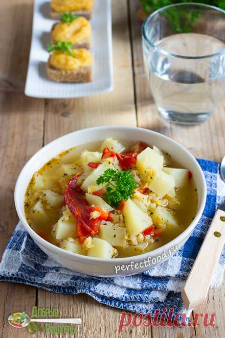 Суп из красной чечевицы с булгуром. Рецепт с фото и видео | Вегетарианские рецепты с фото на каждый день. Добрые рецепты от Елены