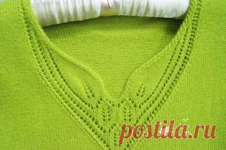 Правильное оформление горловины: вязание спицами