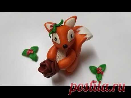 🌰 Как слепить белочку из мастики, пластилина, полимерной глины (Cake/Fondant Topper - Squirrel). - YouTube