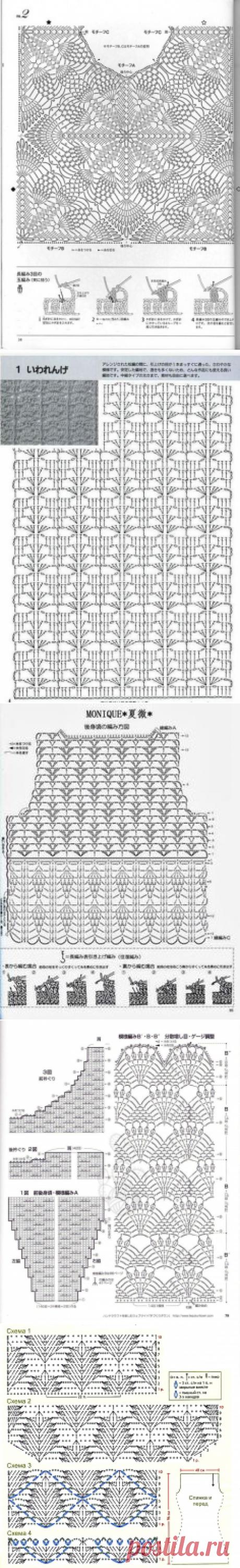 Японская схема вязания крючком