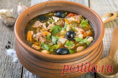 Грибная солянка в горшочке - Великий повар - пошаговые фоторецепты