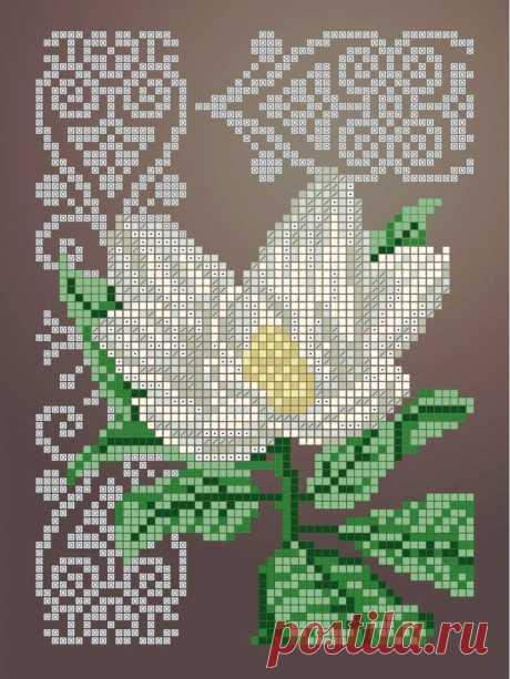 Схема для вышивки бисером Цветы «Зупа»™ «Магнолия» (A5) 15x18 (ЧВ-2340(10)) Схемы вышивки бисером - это специальная ткань с рисунком для вышивания бисером. Схема для вышивания нанесена на ткань в виде цветных обозначений поверх изображения. В состав входят рисунок на ткани и инструкция по вышиванию. Бисер в состав не входит.